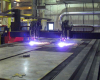 Medium duty plasma cutting machine for larger applications